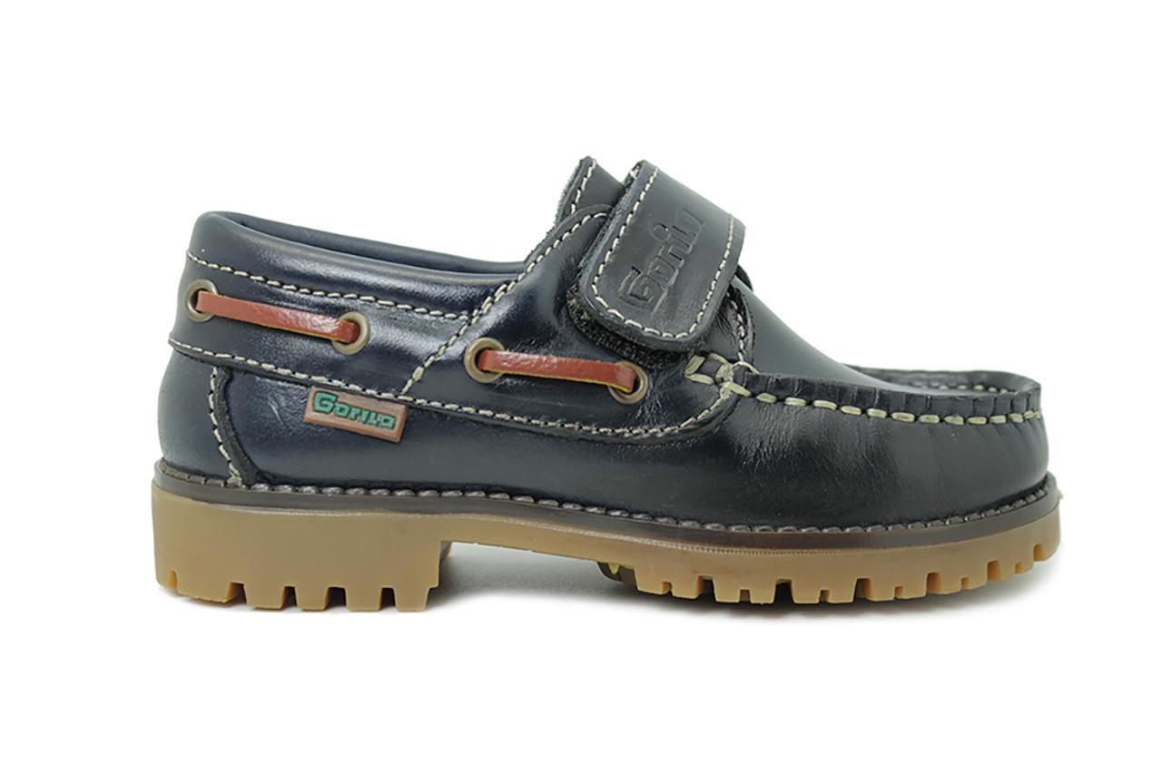 2309dc5e1c5 Zapatos Colegiales Infantiles  marino Gorila