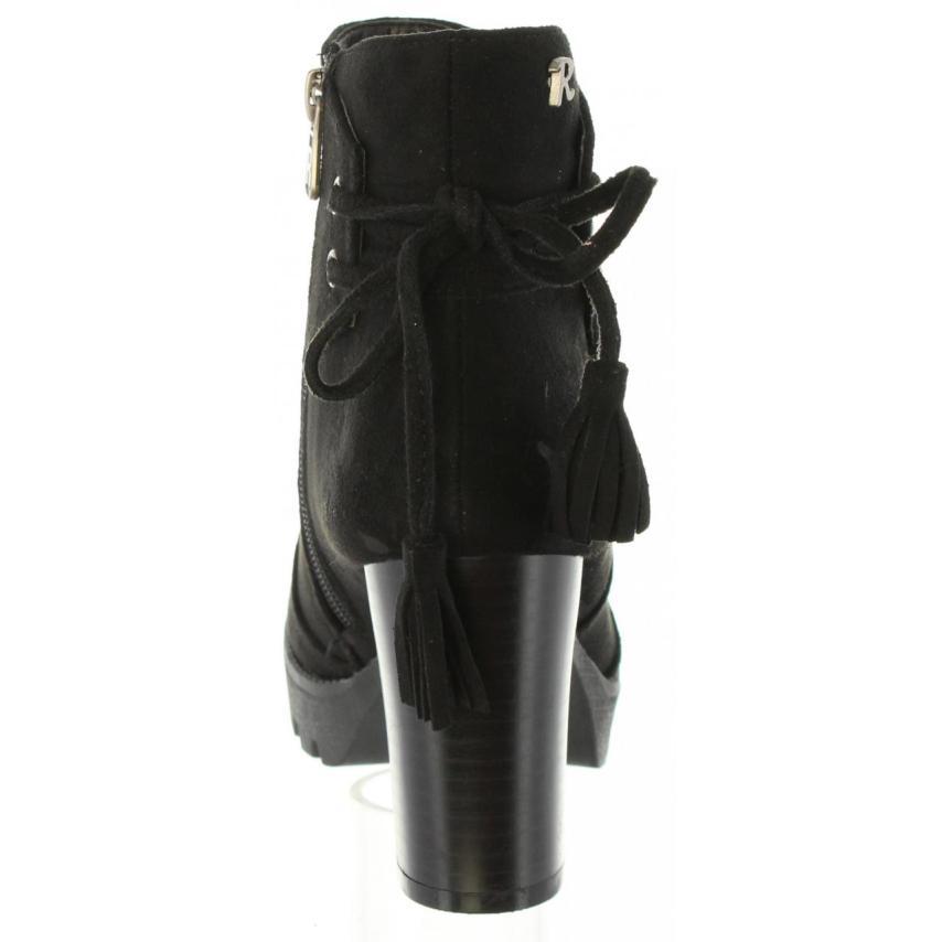 MUJER PARA Negro DE 63654 MODA REFRESH CALZADO Antelina q7440Z