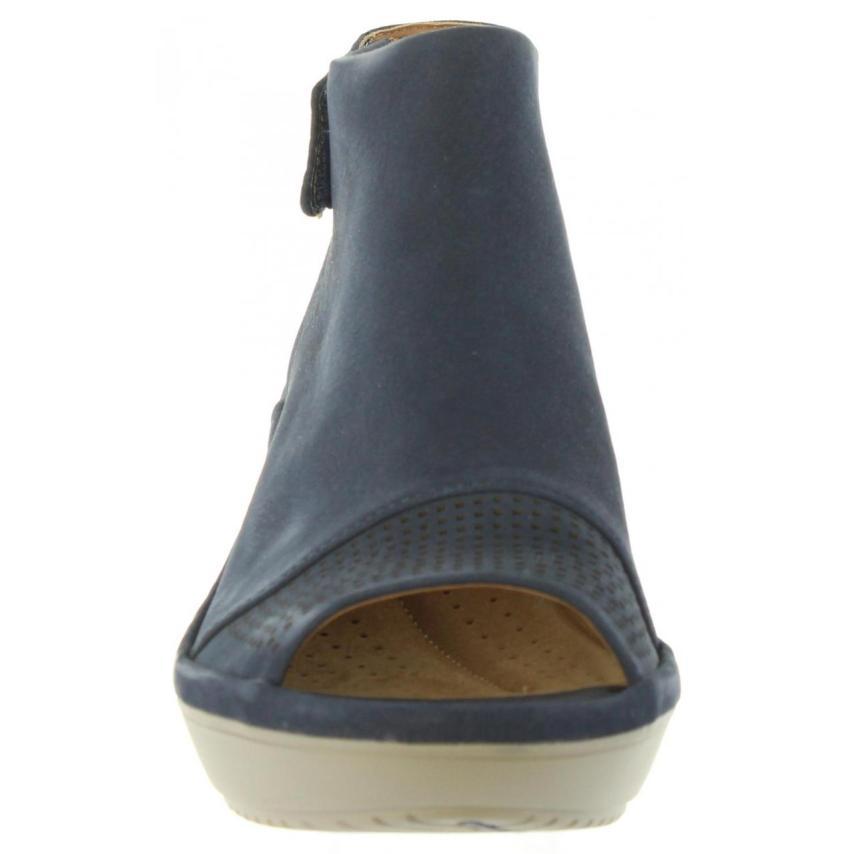 Women Wedge Wynnmere For Clarks 26133983 Navy Heel Nubuck Sandals Yrqtr