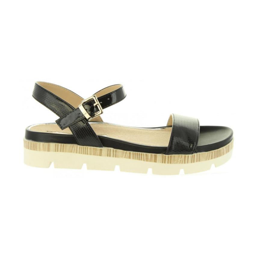 Sandalia plana de femmes Maria Mare- C noir