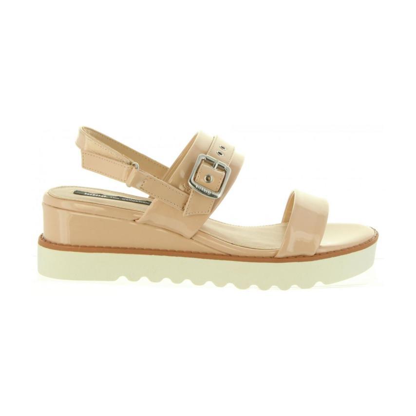 Sandales compensées pour femmes Mtng- C Nude MTNG