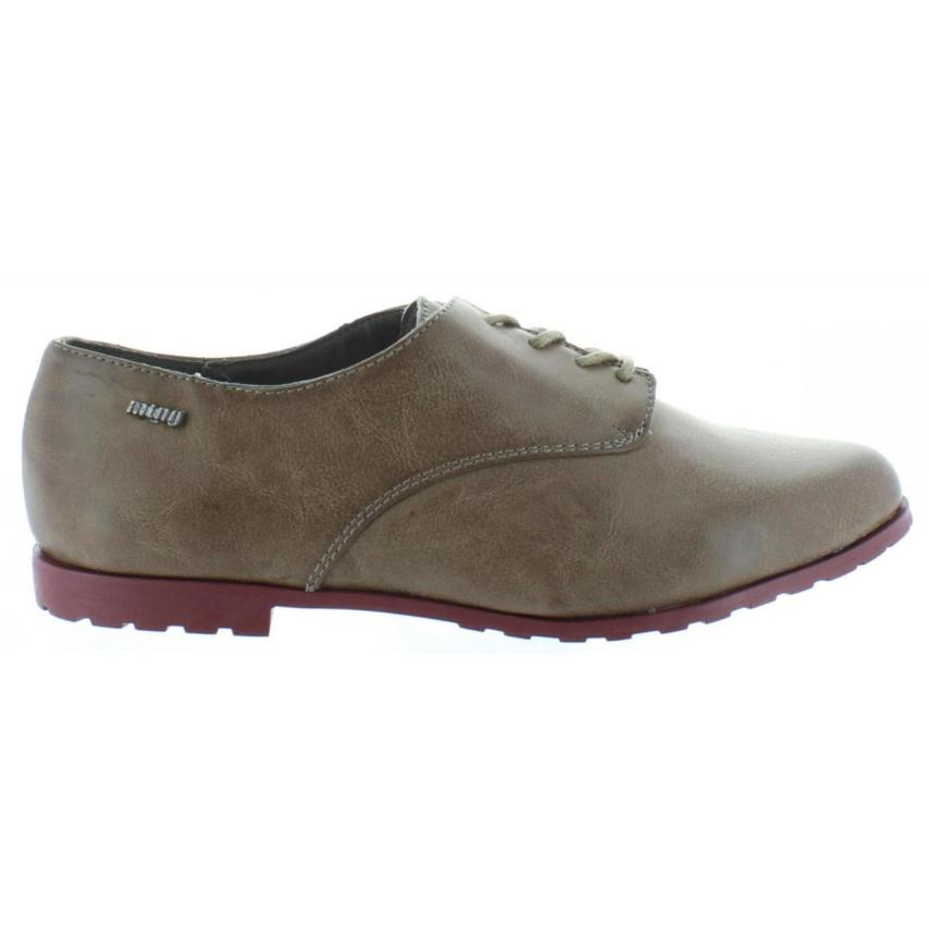 PARA MTNG 52653 Lodiz PLANO ZAPATO Taupe MUJER qnXBwTz