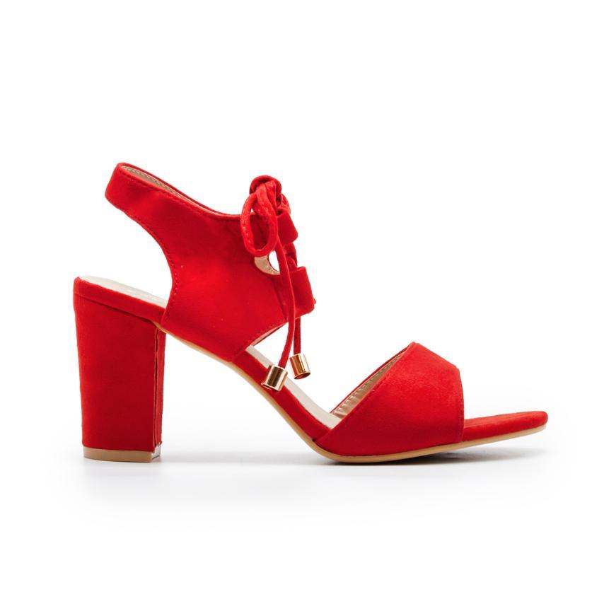 Sandales à la mode pour femmes  rouge ZAPSHOP
