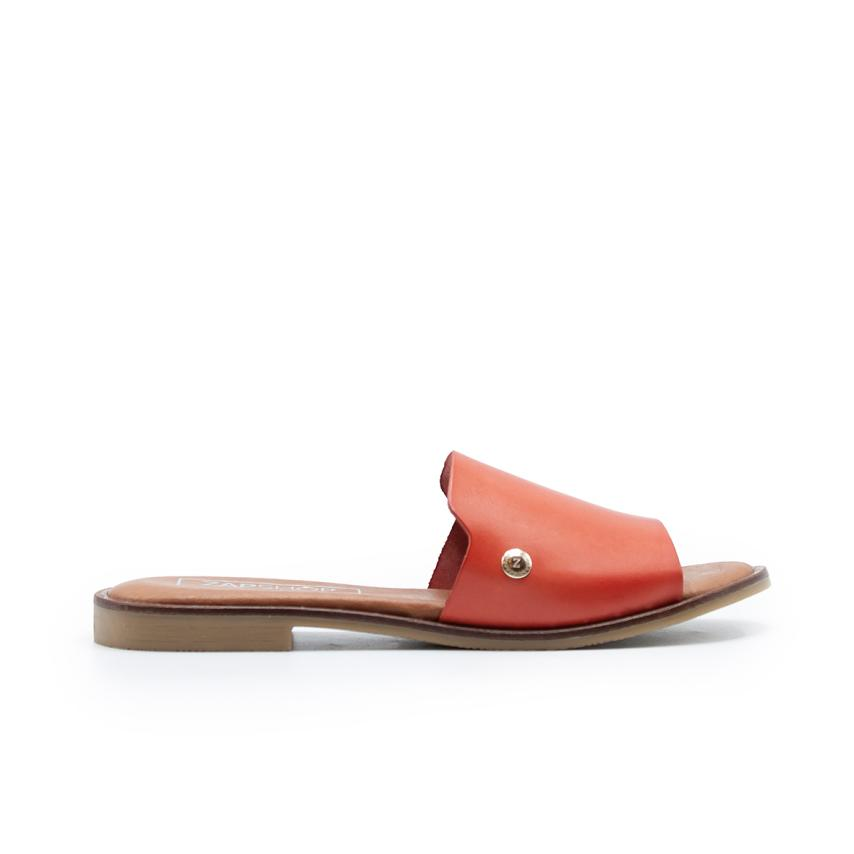 Sandalia plana de femmes  coral ZAPSHOP