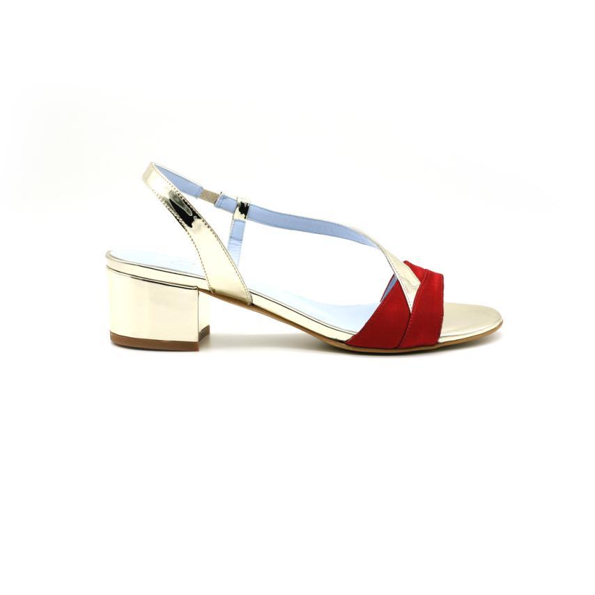 Zapato de fiesta para femmes Civi-giulia_raso_rouge CIVI