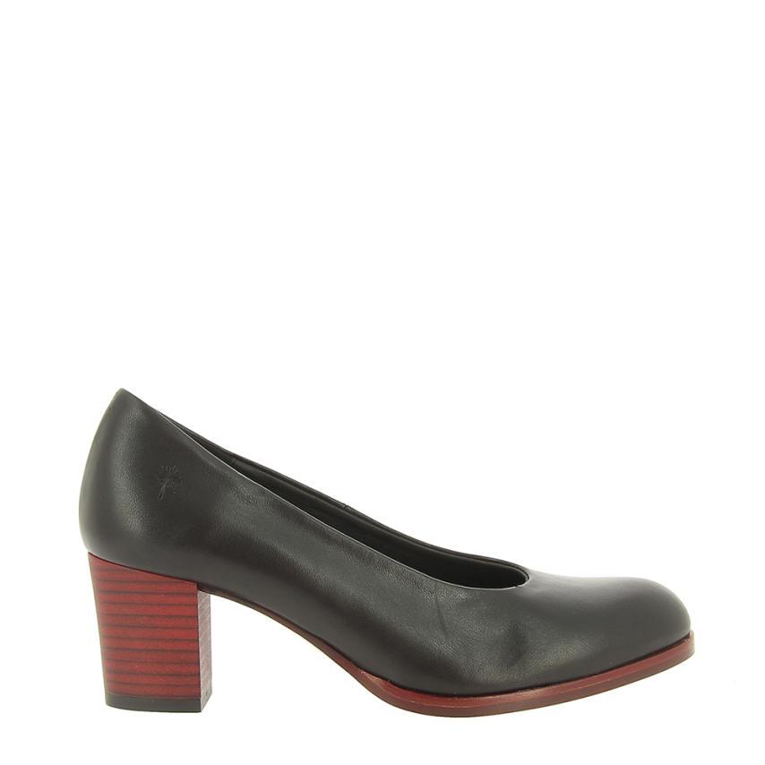Zapato de salón para femmes Piel  noir Alma de Candela