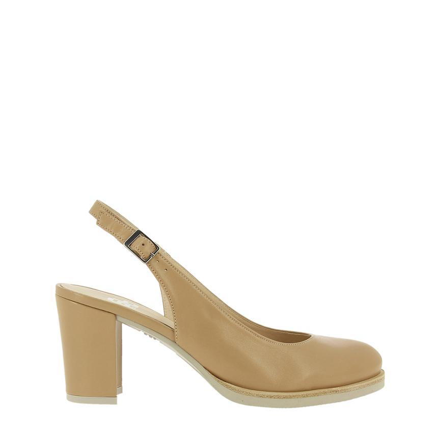 Zapato de salón para femmes Piel pebble (taupe) Gadea