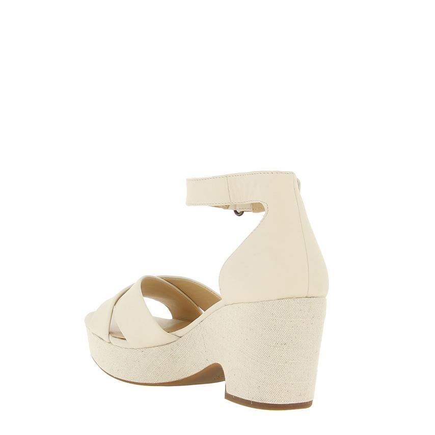 b1b8a3e8fd6 Sandalia de cuña Leather white Clarks
