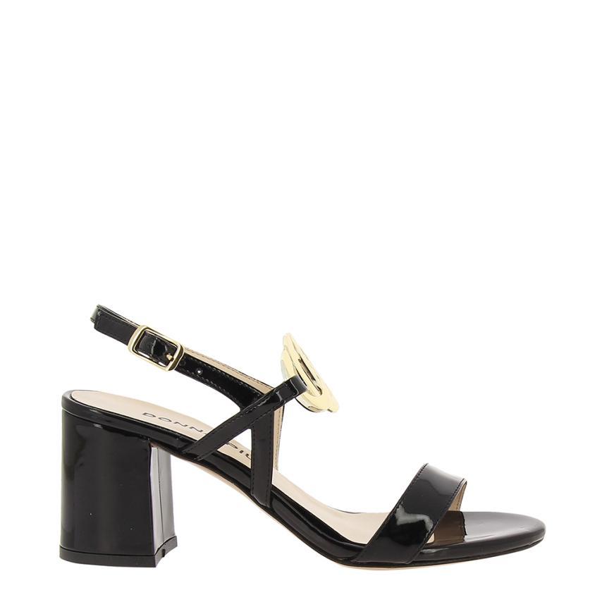 Sandales à la mode pour femmes Eco Charol noir Gbbravo