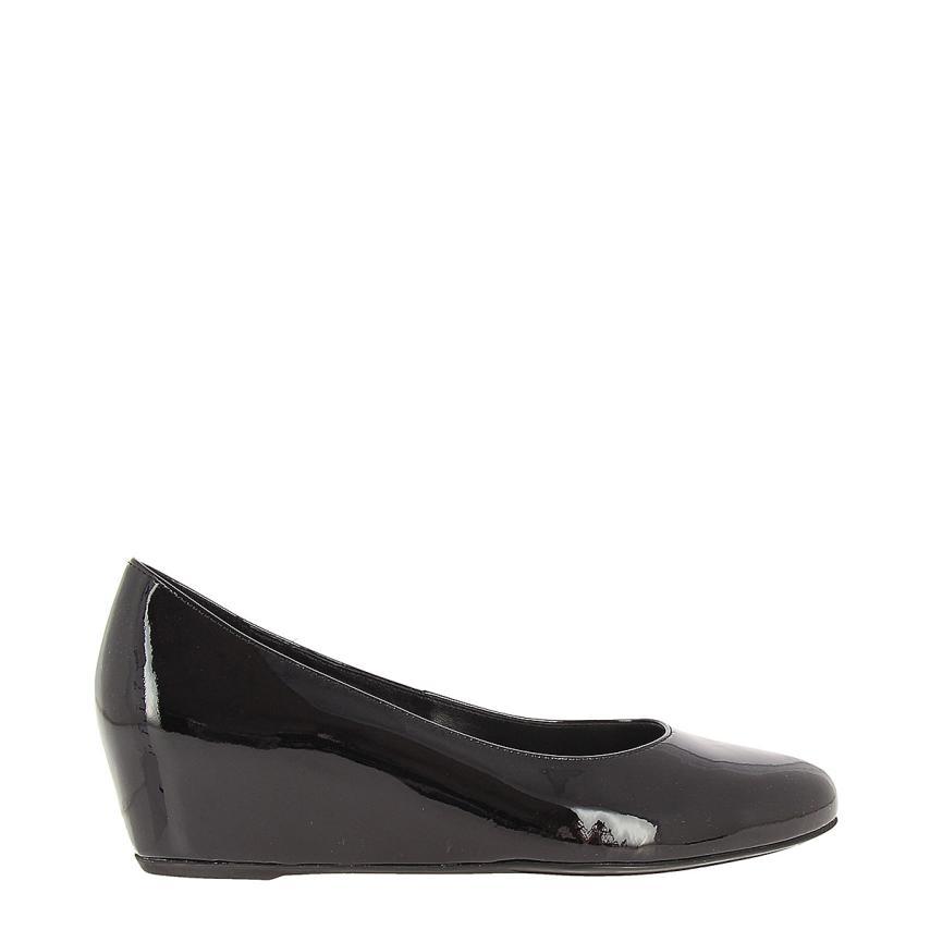 Zapato de cuña para femmes Charol noir Hogl