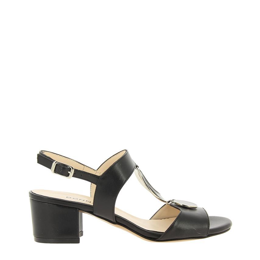Sandales à la mode pour femmes Soft (ecopiel) noir femmes Piu