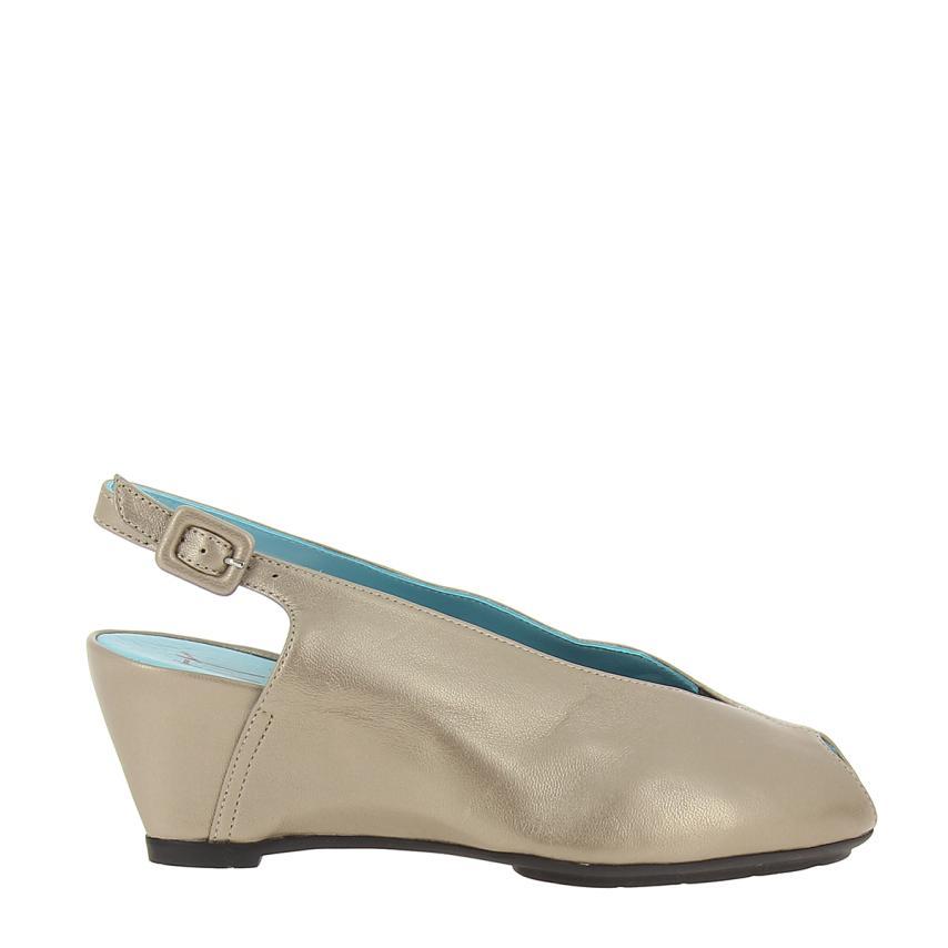 Zapato de cuña para femmes Tafetas  Champagne Thierry Rabotin