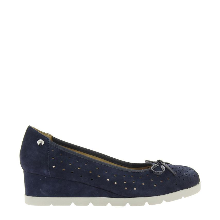 Zapato de cuña para femmes Suede   D Denim Stonefly