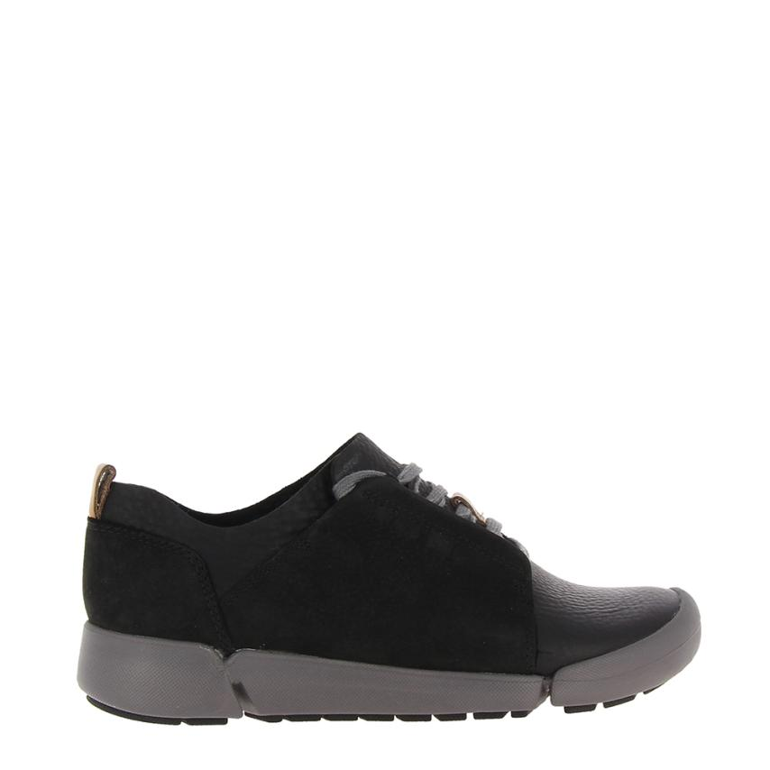 Zapato plano para femmes Combi noir Clarks