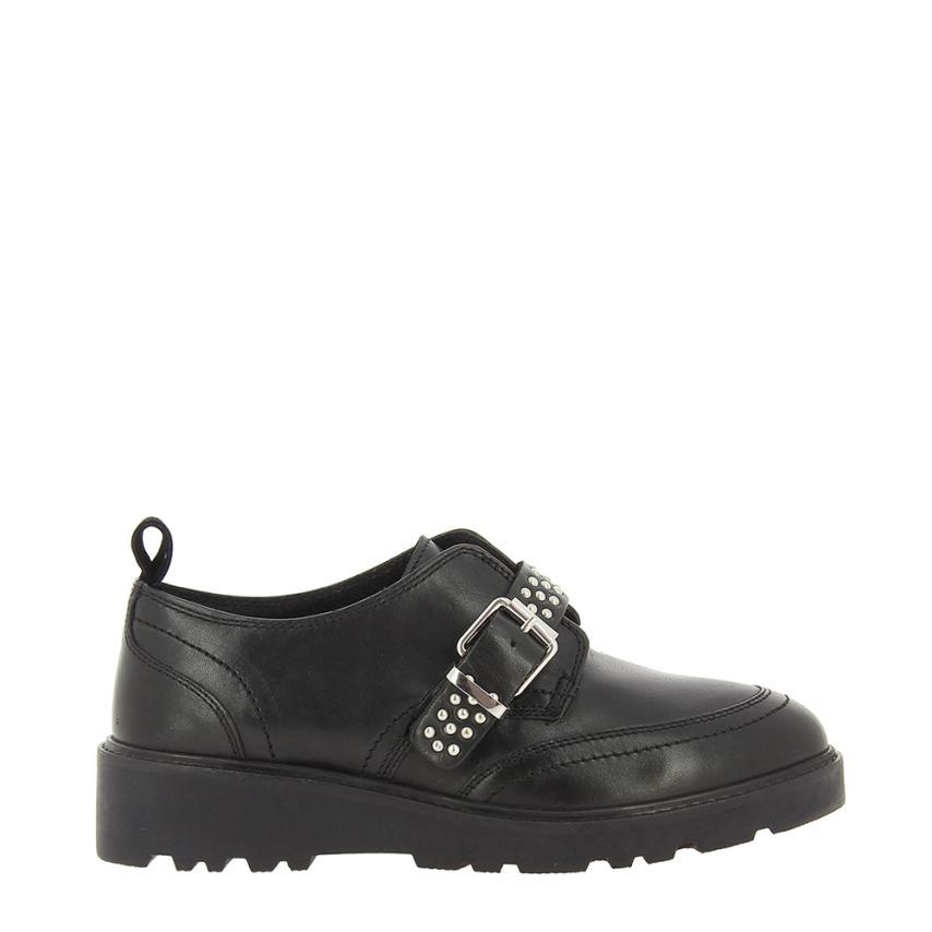 Zapato de cuña para femmes Piel + Tachas noir Gioseppo