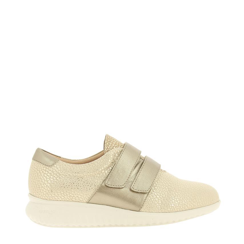 Zapato plano para femmes Nelson (piel Bombeada) beig Alma de Candela