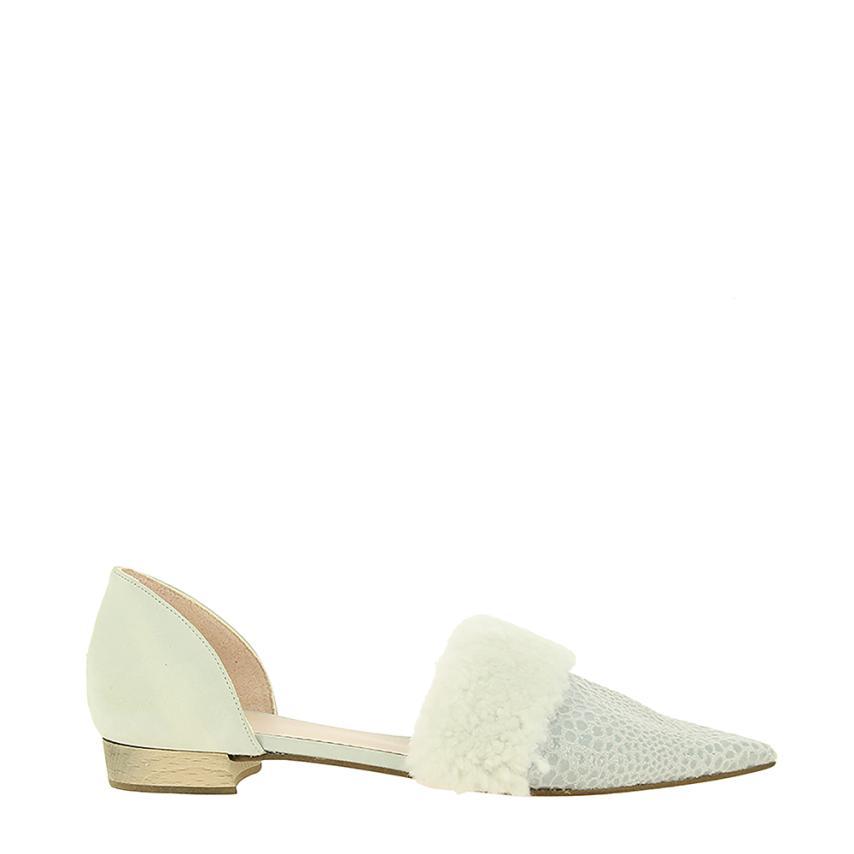 Zapato plano para femmes Piel Ecologica Escamas bleu() Momoc