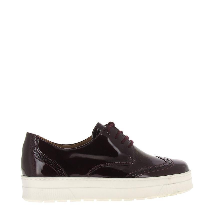 Chaussures à semelle compensée pour femmes Charol burdeos+blanc Caprice
