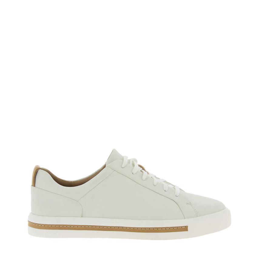 chaussures plates pour femmes Leather blanc Clarks