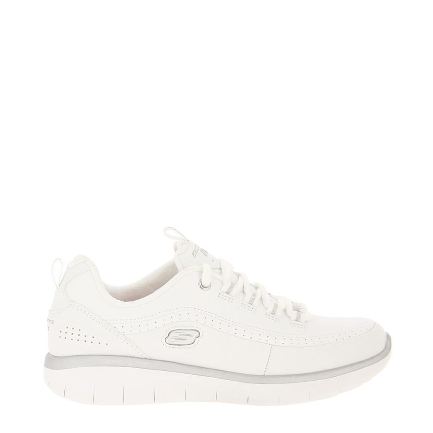 chaussures plates pour femmes Clasic Leather blanc Skechers