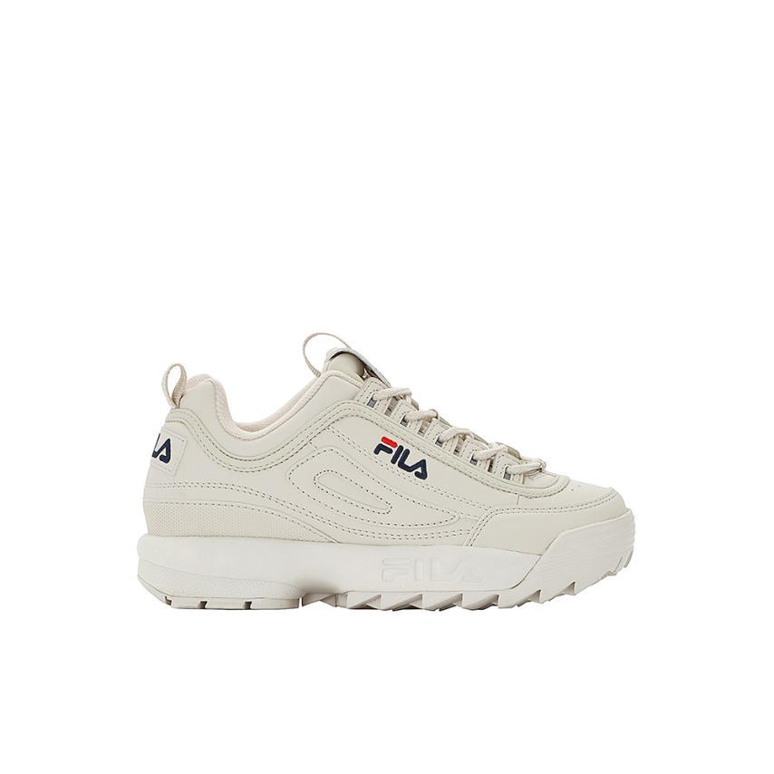 chaussures plates pour femmes  antique blanc Fila