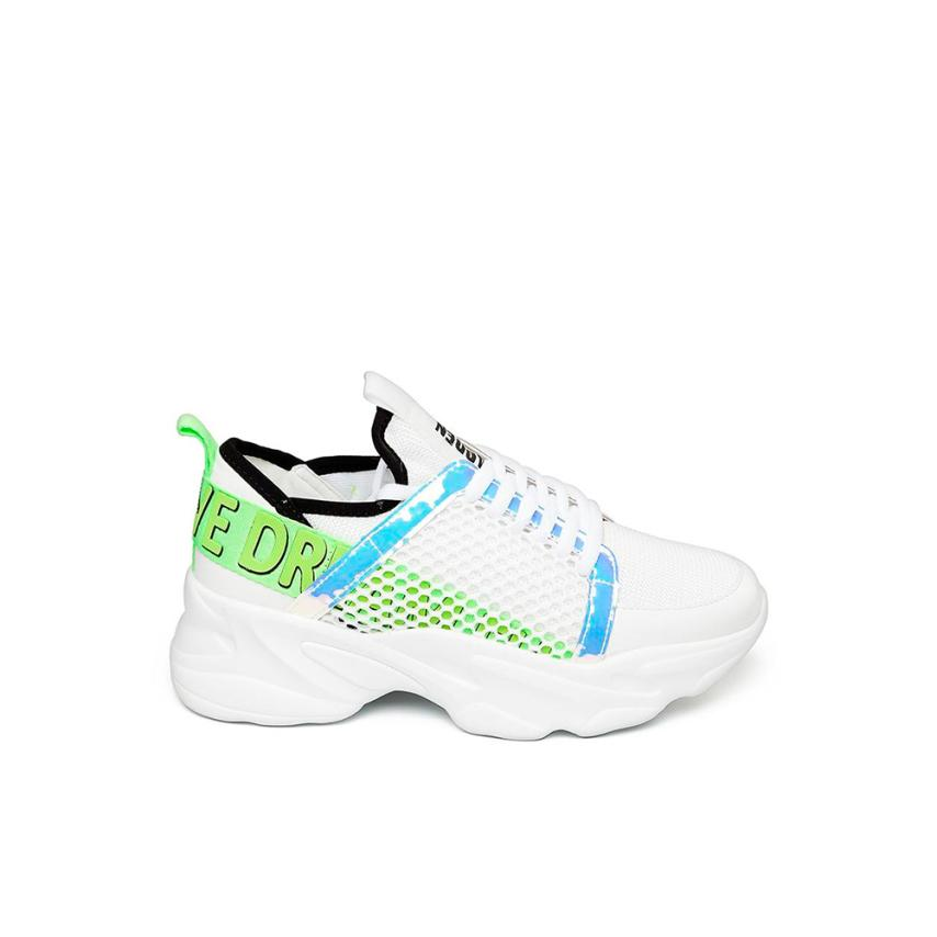 chaussures plates pour femmes  blanc Multi Steve madden