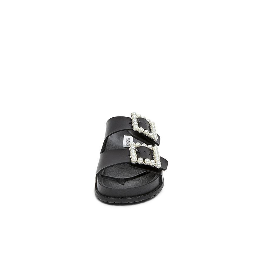 NORA - Sandalias planas - black 1IzdFea80