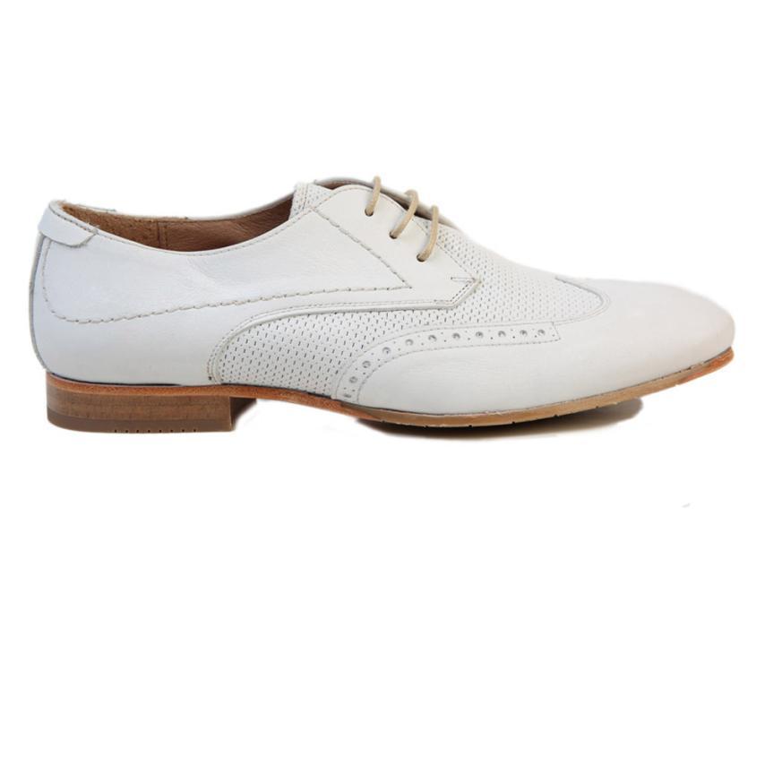 chaussures à lacets pour femmes Napa blanc Gonzalo