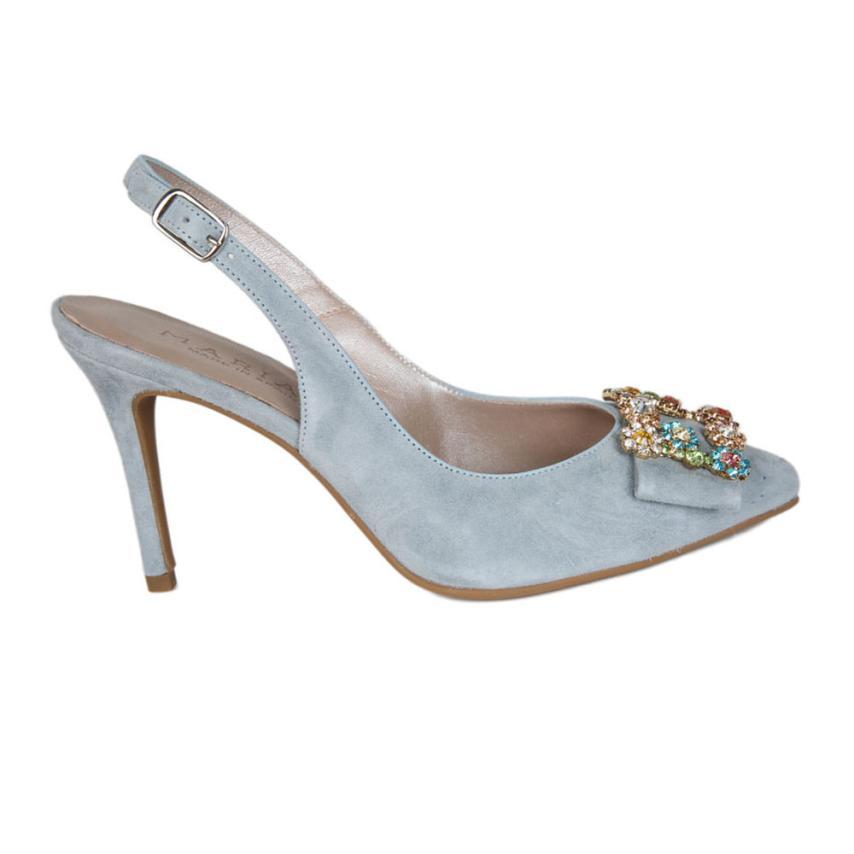 Zapato de fiesta para femmes Ante cielo Marian