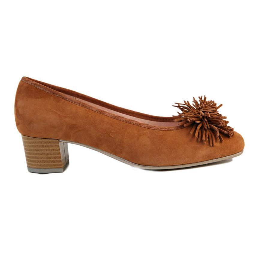 Zapato de salón para femmes Ante cognac Strover
