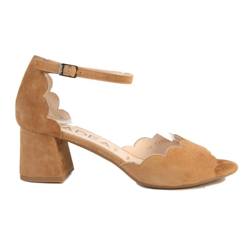 Zapato de fiesta para femmes Ante camel Gadea