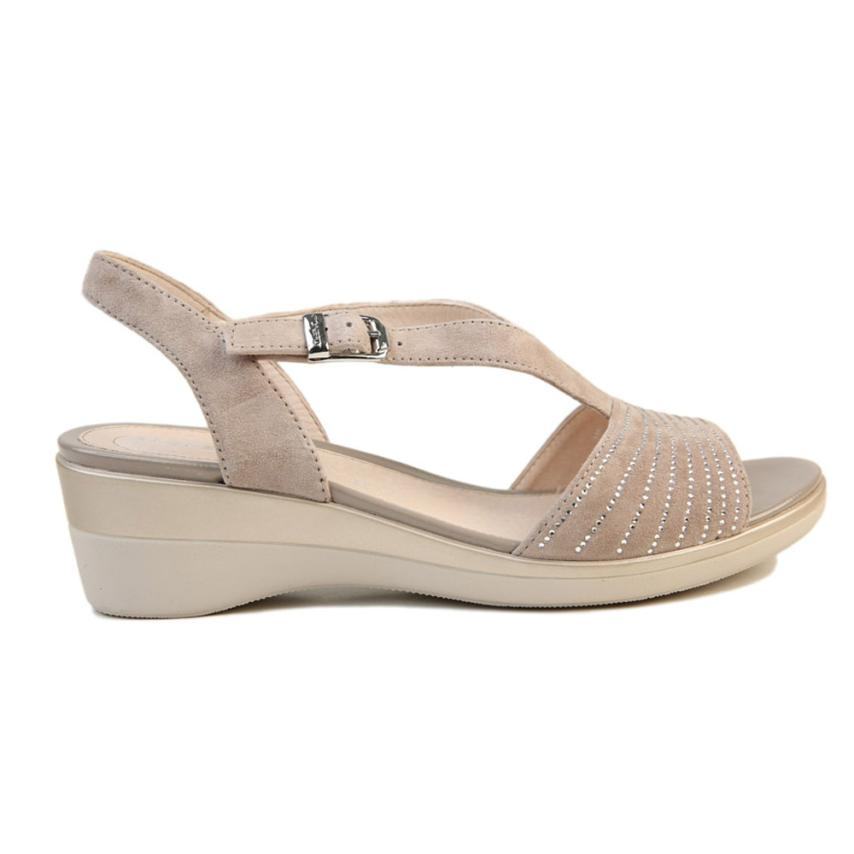 Sandales compensées pour femmes Vanity Iii  taupe marron Stonefly