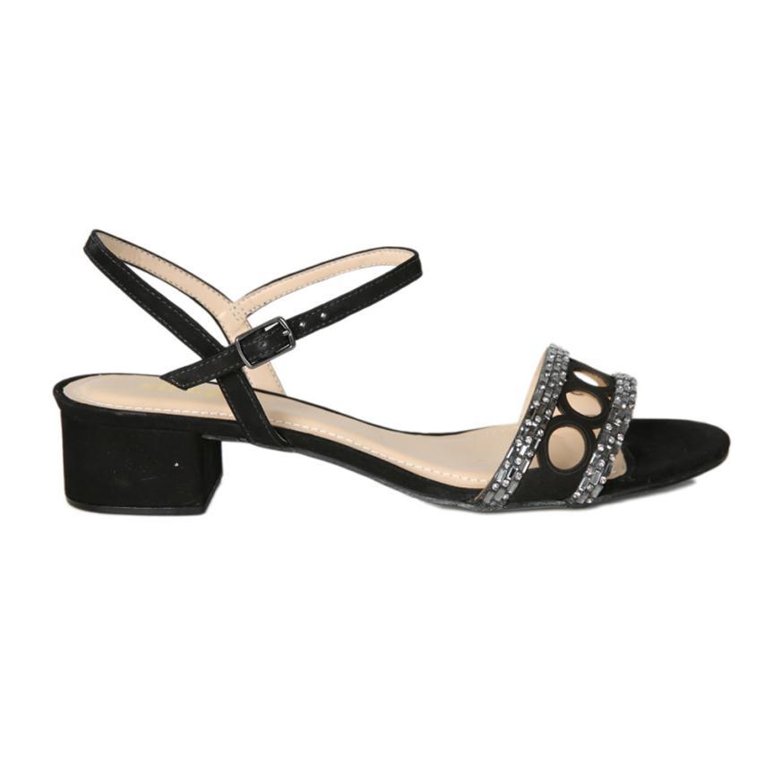 Sandales à la mode pour femmes Nobuck preto Strover