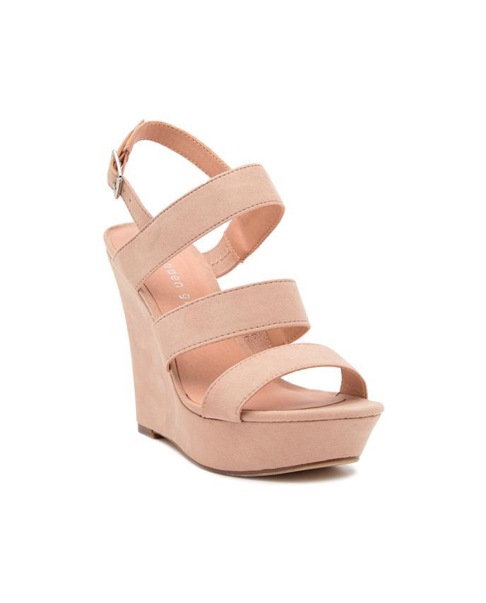 Sandales compensées pour femmes  bleush Fabric Steve madden