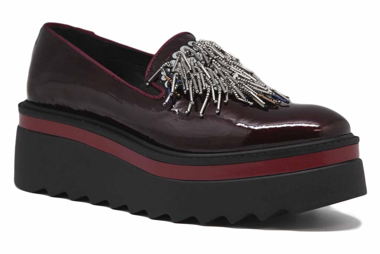 Chaussures à semelle compensée pour femmes Napclack burdeos Hobby